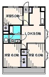メゾンルーラル[3階]の間取り