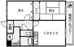 朝日プラザ堺東II[1104号室]の間取り