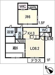 仮)姫小川町新築アパート東棟[1階]の間取り
