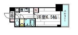 S-RESIDENCE江坂[6階]の間取り