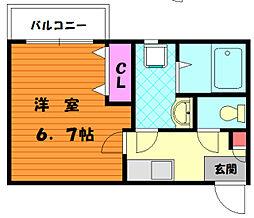 クレフラスト香椎駅東II[1階]の間取り