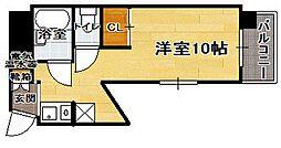 ジュネス博多[10階]の間取り