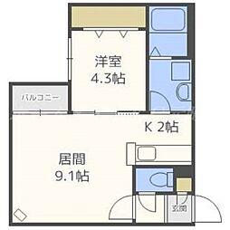 北海道札幌市東区北十六条東16丁目の賃貸マンションの間取り