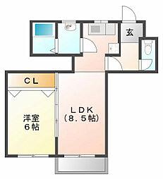 ロイヤル甲子園[3階]の間取り