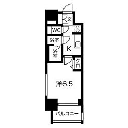 ファステート名古屋ラプソディ 5階1Kの間取り