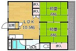 レジデンス松栄I[5階]の間取り
