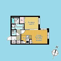札幌市営南北線 北34条駅 徒歩3分の賃貸マンション 1階1LDKの間取り