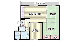 兵庫県明石市林崎3丁目の賃貸マンションの間取り