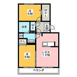 仮)D-room津田町[3階]の間取り