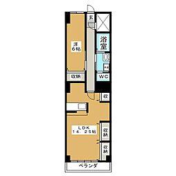 上杉マンション[1階]の間取り