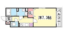 KTIレジデンス神戸元町[203号室]の間取り