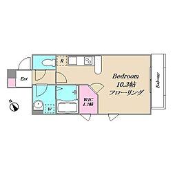 小田急小田原線 代々木八幡駅 徒歩5分の賃貸アパート 2階ワンルームの間取り