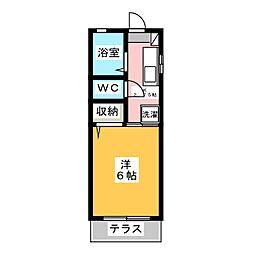 サンハイム8[1階]の間取り