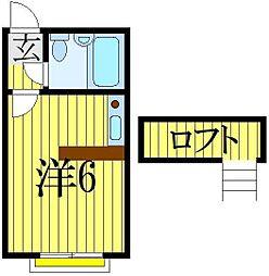 べルピア馬込沢第2[1階]の間取り