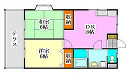 Dsガーデン[1階]の間取り