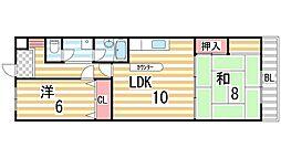 川島第8ビル[102号室]の間取り
