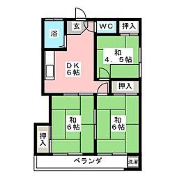 コーポABEII[2階]の間取り
