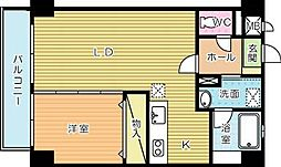 福岡県北九州市小倉南区横代北町2丁目の賃貸マンションの間取り