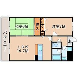 コスミックルーム21[201号室]の間取り