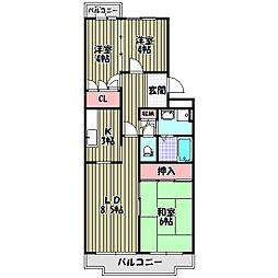 グリーンヒル小金台(マンションタイプ)[1階]の間取り