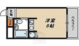 ワットハイム都島[2階]の間取り