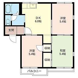 第2スカイハウスB[202号室]の間取り