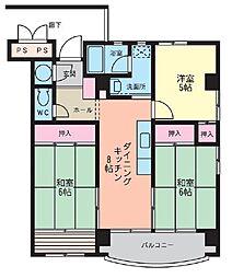 メゾン西明石[5階]の間取り