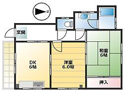 豊島マンション[1F号室]の間取り