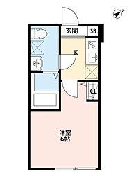 マツドシンデンハッピーハウス[102号室号室]の間取り
