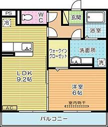 エスポワール祇園A棟[302号室]の間取り
