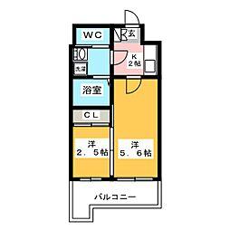 グランフォーレ箱崎ステーションプラザ[2階]の間取り