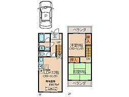 [テラスハウス] 京都府宇治市木幡檜尾 の賃貸【/】の間取り