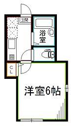 JR総武線 阿佐ヶ谷駅 徒歩6分の賃貸アパート 3階1Kの間取り