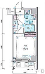 JR山手線 田町駅 徒歩13分の賃貸マンション 5階1Kの間取り