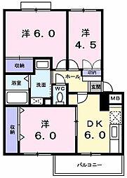 ガ−デンヒルズ美堀[0202号室]の間取り