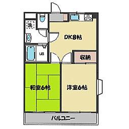 第3ゴージャスライフマンション[106号室]の間取り
