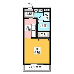オリオンアパートメント[1階]の間取り