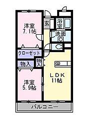 兵庫県神戸市西区小山1丁目の賃貸マンションの間取り