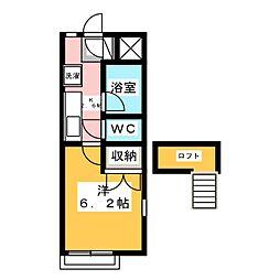 宮城県仙台市若林区南小泉3丁目の賃貸アパートの間取り