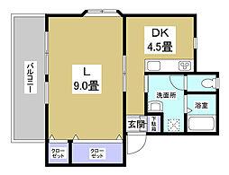 内藤アパート[2階]の間取り