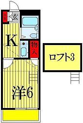 パセットワン幕張本郷[2階]の間取り