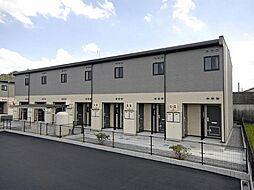 広島県福山市神辺町大字川南の賃貸アパートの外観