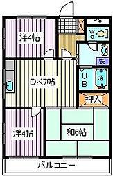 埼玉県さいたま市桜区西堀3丁目の賃貸マンションの間取り