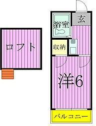 千葉県松戸市常盤平柳町の賃貸アパートの間取り