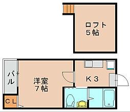 ステージ千代2[2階]の間取り