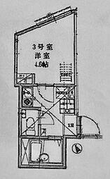 リーヴェルLeco横浜ActII[103号室]の間取り