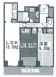 オークプリオタワー[34階]の間取り