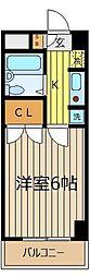 ドゥジェ−ム・シェロス[8階]の間取り