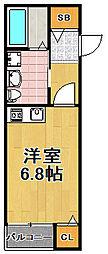 JOYFUL・HOUSE此花 1階1Kの間取り