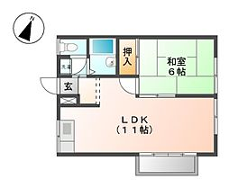 エステートピア伊藤I[2階]の間取り